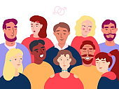 Group Of People Flat Vector Illustration