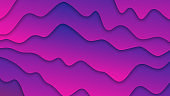 Smooth Curved Lines 3D Abstract Background