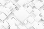 3D Render Science Technology White Abstract Background