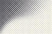 Rhombus Shapes Halftone Vector Abstract Geometric Technology Retrowave Sci-Fi Texture