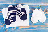 Apparel for newborn, extending family and expecting for baby concept