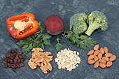 Natural fresh vegetables recommended for hypertension, healthy lifestyles and nutrition