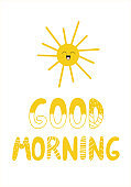 Lettering good morning in scandynavian style