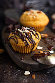 Muffin with dark chocolate