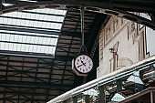 Old clock at a railway station