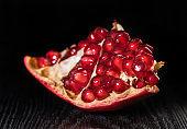 ripe pomegranate fruit close-up