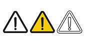 Exclamation danger sign vector icon