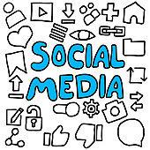 social media design doodle