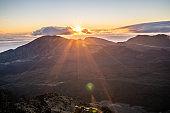 Haleakala national park at sunrise