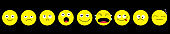Emoji icon set line. Emoticons. Funny kawaii cartoon characters. Emotion collection. Happy, surprised, smiling crying sad angry face head. Flat design Black background. Isolated.