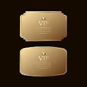 Gold label templates, luxury gold badges & Premium Label vectors