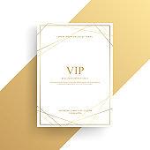 Luxury invitation design, Gold card template