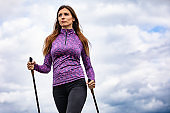 Nordic walking - woman training