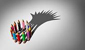 Diversity Business Leaders Concept