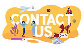 Contact us concept. Idea of support service