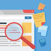 SEA concept. Idea of search engine advertising