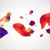 Triangle pattern shape for wallpaper