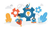 Work concept. Idea of teamwork and business strategy