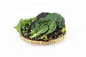 Delicious rolls vegetables, fresh organic plants