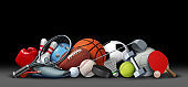 Sport Objects On Black
