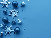 Christmas holiday background toned classic blue color