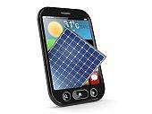 Photovoltaic panel inside smartphone