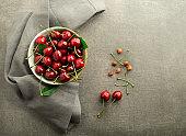 Eating Cherries fruits