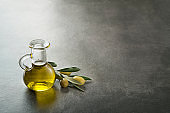 Olive oil bottle background