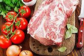 Raw meat pork