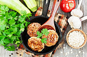 Burgers with oat flakes and zucchini