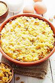 Millet casserole with raisin