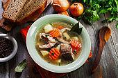 Fish sterlet soup