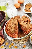 Beetroot pie with raisins