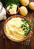 Mashed potato with milk
