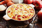 Rice casserole with apples and carrots