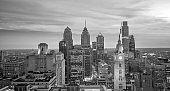 Cityscape of downtown skyline Philadelphia in Pennsylvania
