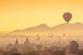 Bagan cityscape of Myanmar in asia