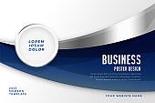 abstract business style presentation modern template design