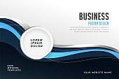 abstract modern business presentation brochure template design