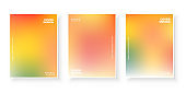 warm color gradient cover page template design