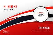 stylish red business presentation brochure template design
