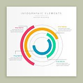 abstract modern steps option colorful infographic design banner