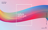 abstract colorful 3d flowing wave background design template