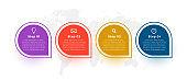 four steps modern infograph template design