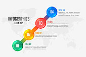 four steps infographic timeline design template