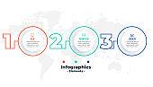 three steps infographic presentation circular template design