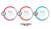 three steps circular modern infographic template design
