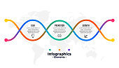 three steps creative colorful infographic template design