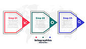 business infographic template in arrow style