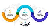 infographics steps business template design